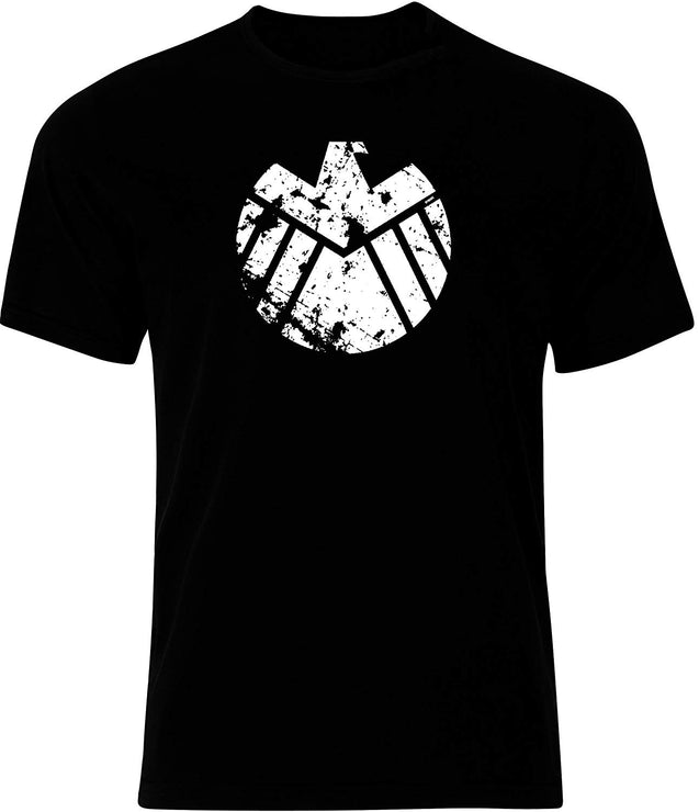 Mens Shield Distressed Logo T-Shirt