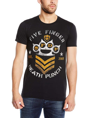 Five Finger Death Punch Men's Chevron Short Sleeve T-Shirt