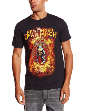 Five Finger Death Punch Men's Burn in Sin Short Sleeve T-Shirt