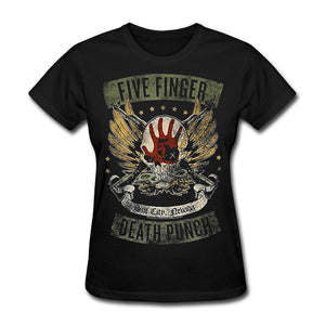 Women's Shirt Five Finger Death Punch Tops Black