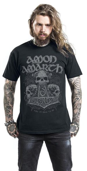 Amon Amarth Skull Hammer Men's Fashion T-shirt