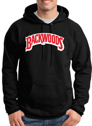 YZG Backwoods Logo Custom Made Comfortable Black Hoodie Sweatshirts