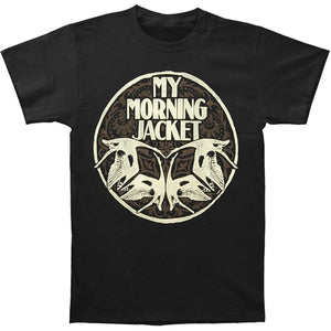 My Morning Jacket Men's Swan Circle Slim Fit T-shirt Black