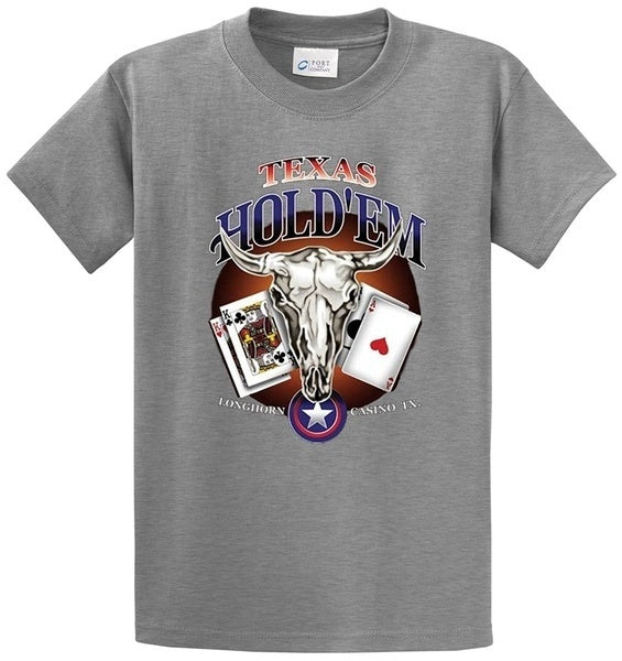 Men's Fashion Texas Hold'Em Printed Short Sleeve T-Shirt