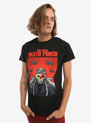 Five Finger Death Punch Skull Pilot T-Shirt