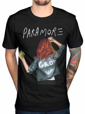 Printed T-shirt Men Summer T-shirt Paramore Grow Up Men's Tee T-shirt Black