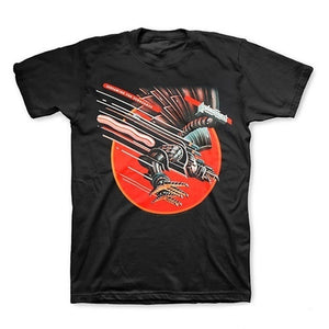 Men High Quality Printed Tops Tees Casual Streetwear T shirt  Judas Priest Screaming For Vengeance Men's Black T-Shirt Short Sleeve S-3XL