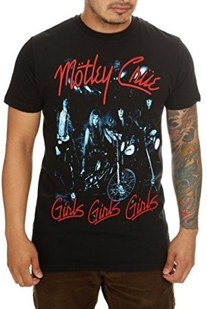 New Fashion Brand TshirtsFunny T Shirt Tee Shirt men t-shirt Motley Crue T-Shirt Cartoon T-shirt,Men T-Shirt