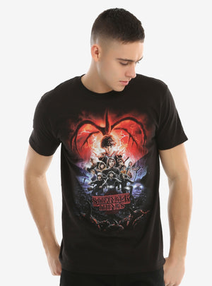 Fashion Men Tshirt STRANGER THINGS SEASON 2 POSTER T-SHIRT