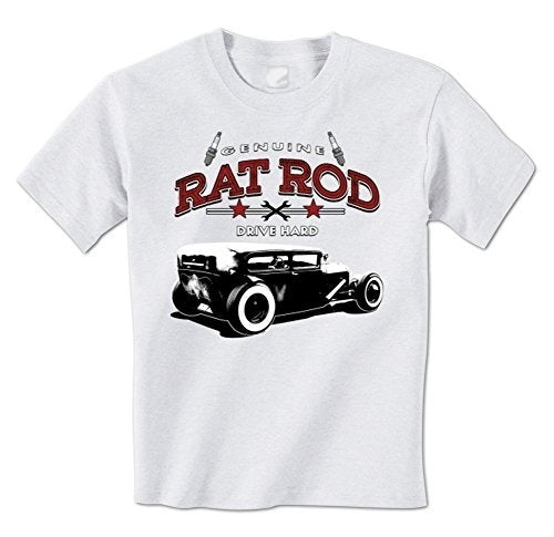 Summer Casual Fitness Tee Tops ClothingGenuine Rat Rod Drive Hard - Classic Vintage Hot Rod Mens T-Shirt