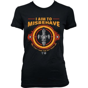 9248L I Aim To Misbehave  Serenity Firefly Browncoat Blue Sun Corporation Men's Fashion T-shirt