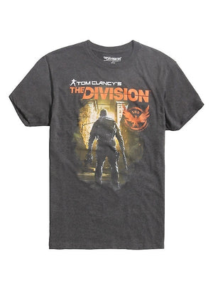Men High Quality Printed Tops Tees Tom Clancy's The Division Cover Art T-Shirt