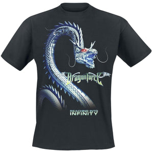 Summer Fashion Men Short Sleeve  T-Shirt Infinity Dragon     Dragonforce T-Shirt  Men Cotton T-shirt Funny Black tshirt