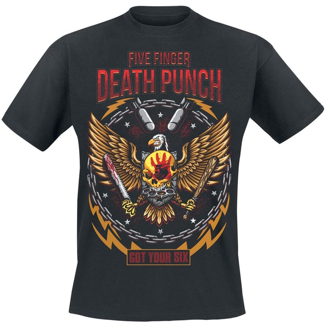 Summer Fashion Men Short Sleeve  T-Shirt Wings Of Prey     Five Finger Death Punch T-Shirt  Men Cotton T-shirt Funny Black tshirt