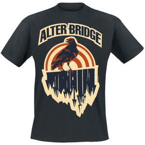 Men High Quality Printed Tops Tees Black Crow     Alter Bridge T-Shirt  Mens Short Sleeve Shirt  cotton t-shirt