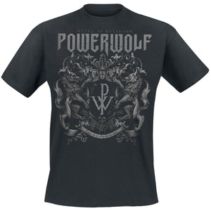 Summber Black Tope Tee For Men Crest - Metal Is Religion     Powerwolf T-Shirt Men Cotton T-shirt Funny Black