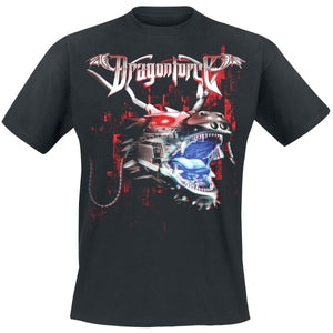 Men's Fashion Short Sleeve Tee Tops  3D Dragon     Dragonforce T-Shirt  Men O Neck Top Tshirt Cotton Funny T Shirts