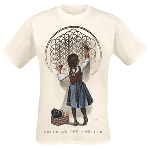 Men's Fashion Short Sleeve Tee Tops  Sempiternal Girl     Bring Me The Horizon T-Shirt  Men O Neck Top Tshirt Cotton Funny T Shirts