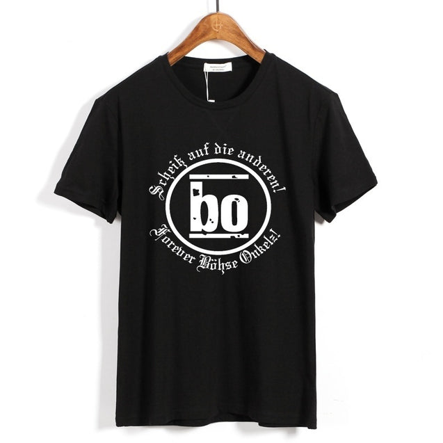 Bohse Onkelz Men's Fashion T-Shirt  Punk Rock Short Sleeve T Shirts Casual Summer  Dress Printed Tops