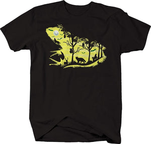 Frog Toad Nature Scene Silhouette Outdoors Scene Short Sleeve T-Shirt