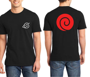 Men's Naruto Shippuden Clan Logo on Back T-Shirt