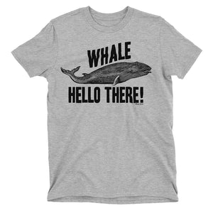 Kids Whale Hello There Funny Animal Pun T-Shirt