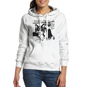 Women Music theme Sonic Youth hooded Pullovers Ladies Cotton Tops  Clothes  Hoodies