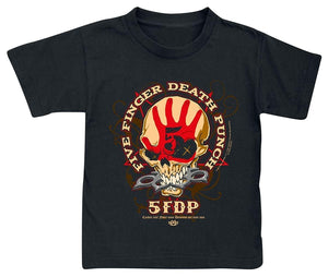 Boys Tees Five Finger Death Punch Knucklehead Kids Shirt Black
