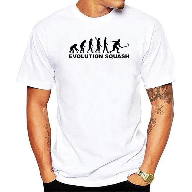 Evolution Squash Creative Men's T Shirt Men New Short Sleeve O Neck Novelty Top Tee