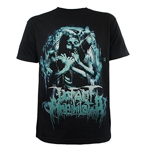 SummerINFANT ANNIHILATOR Band Pinwheel Skull Logo T-Shirt Men's Cotton Short Sleeve T-Shirt-Tops Tee