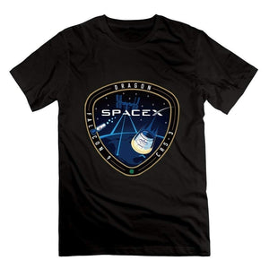 Summer Tops Shirt-SpaceX CRS-3 T-shirt White For Men