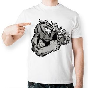 Beast Boar Boxer Fashion Cool T-Shirt Tops- Funny Novelty Design T Shirt Creative Style Anime Tshirt Cartoon Unisex Casual Tee Can send holiday gifts