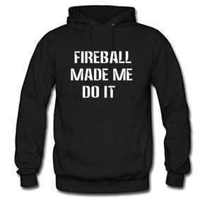 Tops-Fireball Made ME DO IT Women's Long Sleeve Cotton Hoodie