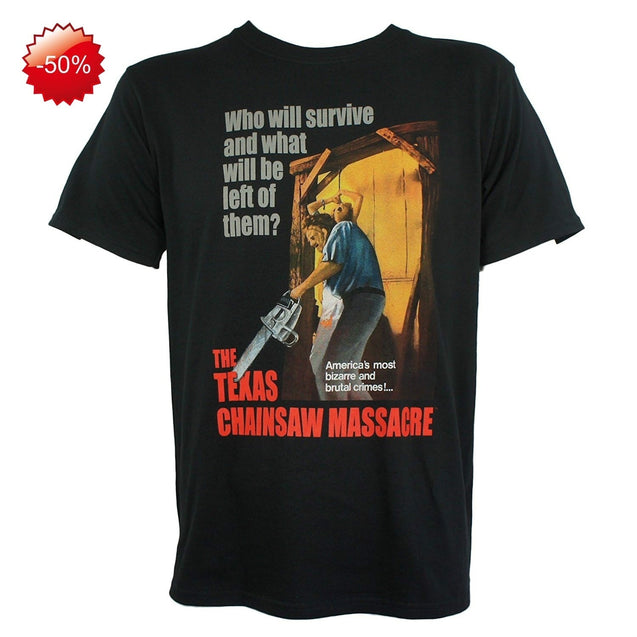 2018 Summer ShirtsTexas Chainsaw Massacre Movie Poster Men's T-Shirts