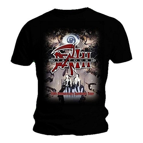Men's T Shirt DEATH Black Metal 20th Anniversary Symbolic Tour S-3XL