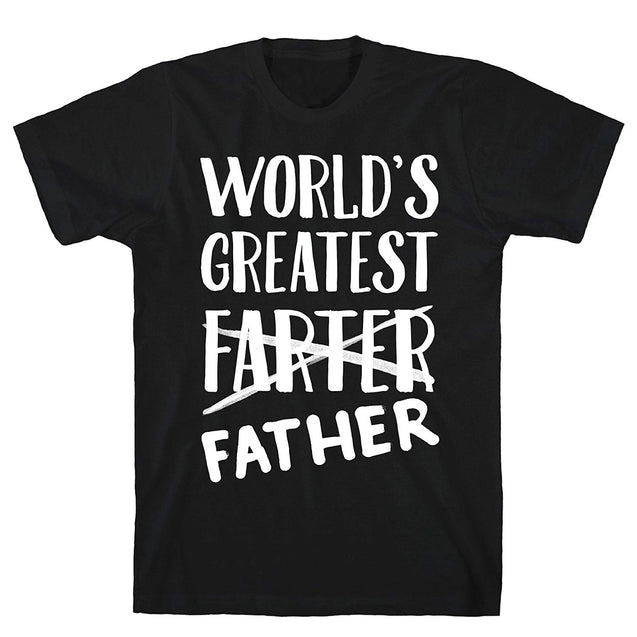 2018 Summer ShirtsWorld's Greatest Farter Black Men's Cotton Tee