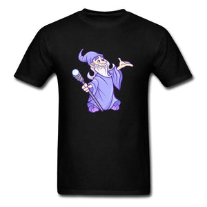 Classic Newest Retro Cartoon T Shirts Blue Magician Printed on shirts Tops for Student Mad Magic Team Tshirt Wholesale O Neck Outfit Life