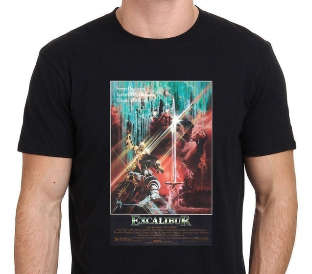 Popular Fashion Excalibur King Arthur 80's Vintage Movie Tee Cotton Tshirt New Men's T-shirt Comfortable,Outfit