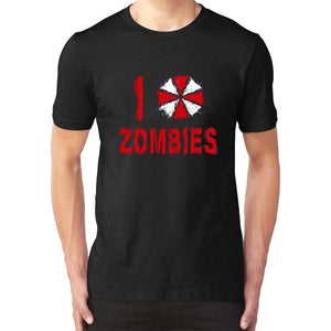 Men Summer T Shirt Resident Evil Horror Film Video Game Zombies T-Shirt Tee Fashion