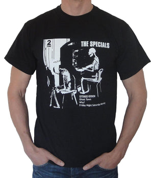 Men Summer Fashion T-Shirts Tops Tee The Specials Ghost Town T Shirt Sizes S-3XL Black Oneck Tops Tee