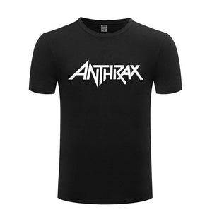 Men Fashion Cotton T Shirt Short Sleeve ANTHRAX Band Heavy Metal Music Rock Style Tops
