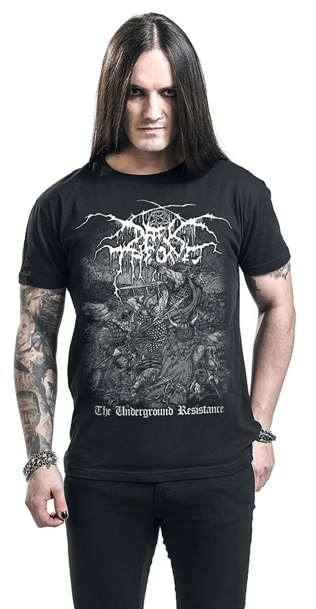 Darkthrone The Underground Resistance Shirts Tops Black Casual Tee Shirts