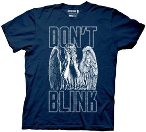 Mens T Shirt casual shirt Doctor Who Don't Blink Weeping Angel Covering Face Men's Navy Blue T-Shirt Tops Tee short sleeve T-Shirt Tops Tee