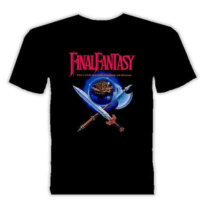 Final Fantasy Nes Video Game T Shirt Men Cool Tops Short Sleeve Hipster Tees,Outfit