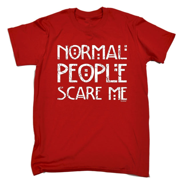 gww Men's NORMAL PEOPLE SCARE ME - T-Shirts funny fashion clothing birthday gift teeTops