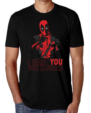 Short Sleeve Tops -Men's Cotton T-Shirt Deadpool T-Shirt I Want You for X-Force Men's Comedy Tee Shirts