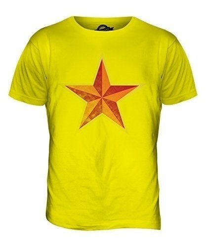 Faded Communist Star - Mens T Shirt Top T-Shirt Tops Tee