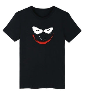 Summer Tops-Shadow Color The Bat Clown Cartoon Printing Women/men T-shirts Shirts Tee