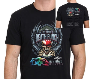 New Five Finger Death Punch & In Flames Tour Men'S T-ShirtsTops