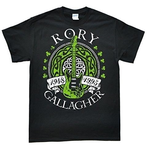 Rory Gallagher Men's short sleeve Cotton T-Shirt Black,Outfit